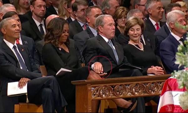 George W Bush,  Michelle Obama