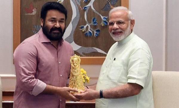PM Modi, Mohanlal