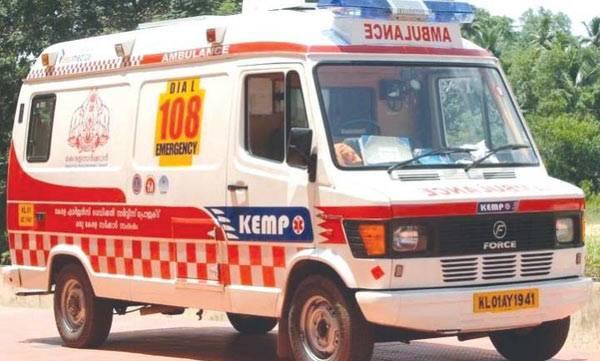 Ambulance fired,  Alappuzha, One died