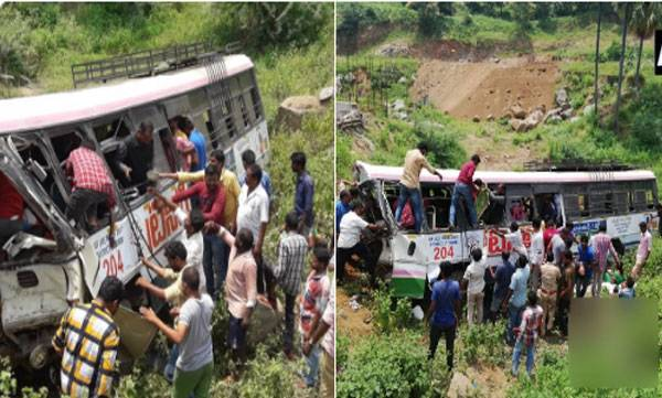 32 killed, Bus fall, Telengana