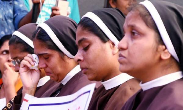 Kerala Catholic bishop Council,  Nuns Protest