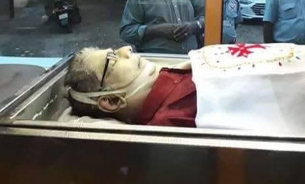 Actor Captain Raju, Funeral