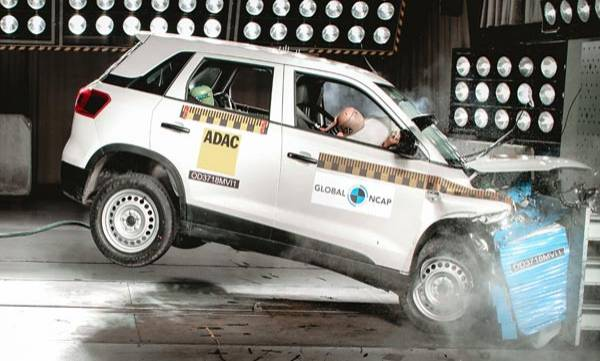 maruti vitara brezza crash test global ncap ratings