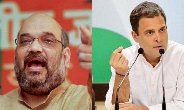 amith sha, tweets, against rahul gandhi