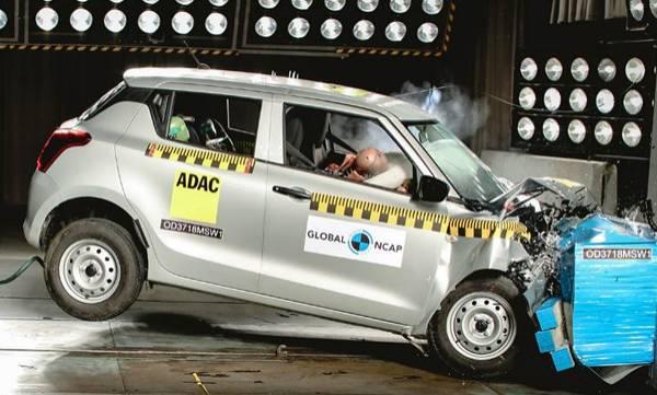 Maruti Suzuki Swift scores two stars in Global NCAP crash test