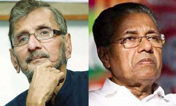 n.s madhavan about chief minister pinarayi vijayan