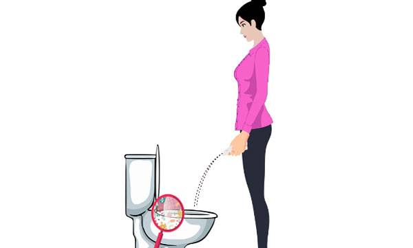 stand up and pee device