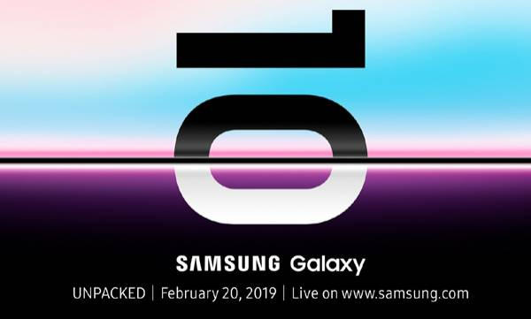samsung galaxy s10 unpacked launch event confirmed for february 20