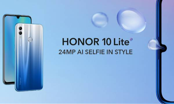 honor 10 lite with kirin 710 waterdrop style notch launched in india