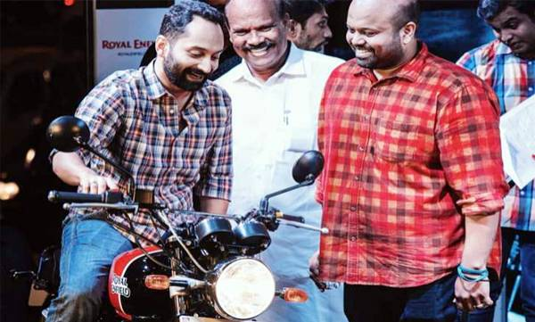 fahadh faasil received a gift of royal enfield interceptor 650
