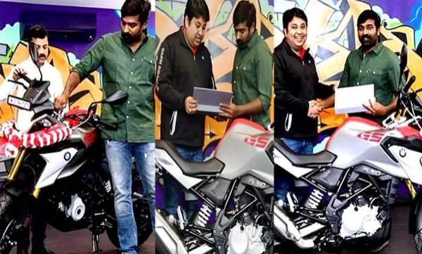 vijay sethupathi bought new bmw g310gs bike