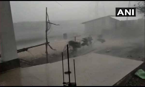 rain, dust storm