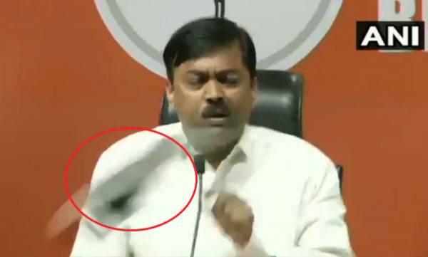 Shoe thrown,  BJP MP,  Sadhvi Pragya's entry