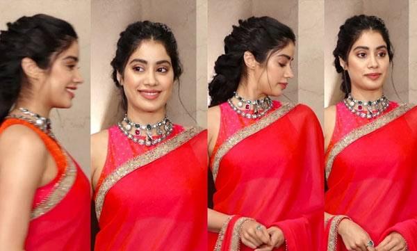 wearing saree