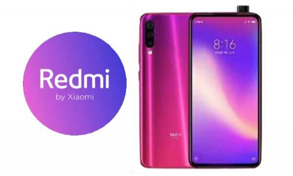 new redmi smartphone with pop up selfie camera