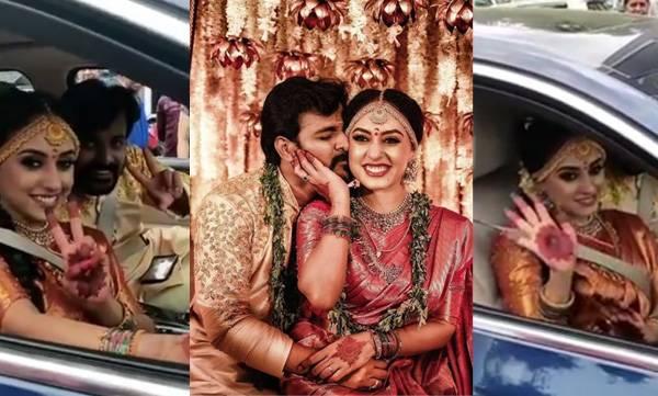 Pearly maaney, Wedding, Srinish aravindh