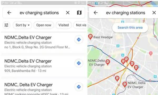 ev owners in india can now check public ev charging station locations on google maps