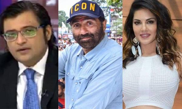 Arnab Gosawmi, Sunny Deol, Sunny Leone