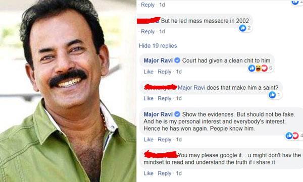 Major ravi, Narendra modi, loksabha election 2019