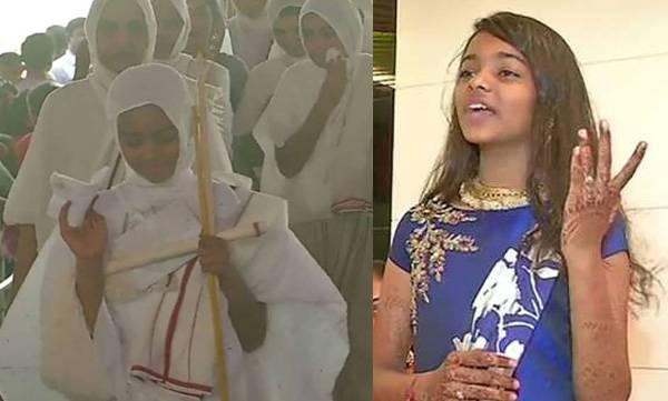 Jain Monk,  Khushi , 12 year old girl