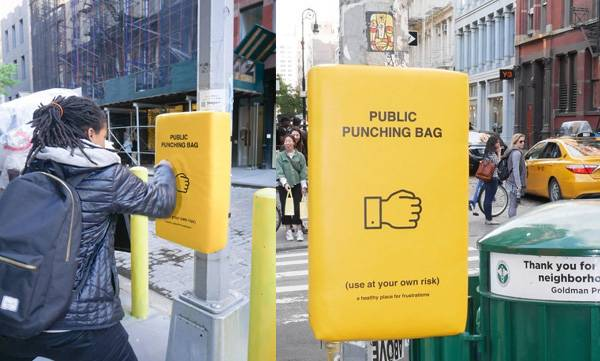 public punching bags, New York streets