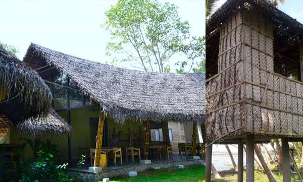 Coconut leaf Roofing