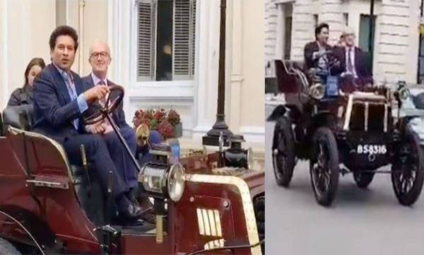 sachin tendulkar drive 119 year old vintage car