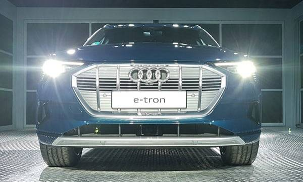 audi previews the e-tron electric suv in india to be launched later this year