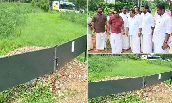 illegal land filling, Kuttanad, Bjp protest