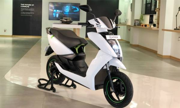 ather electric scooter launched in chennai