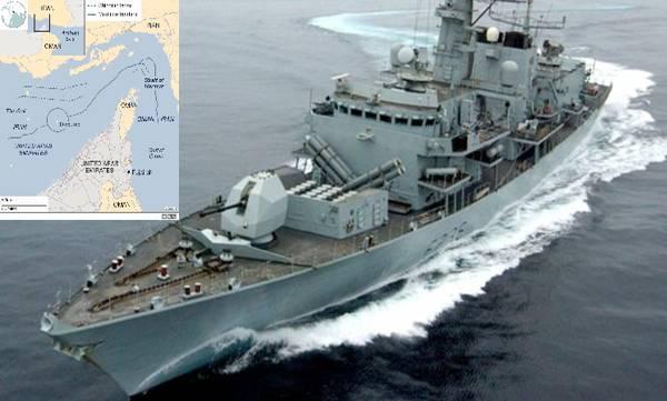 British tanker, Iranian boats