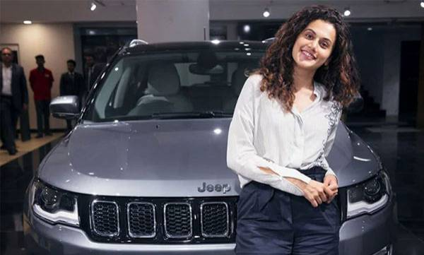 taapsee pannu gifted jeep compass to sister