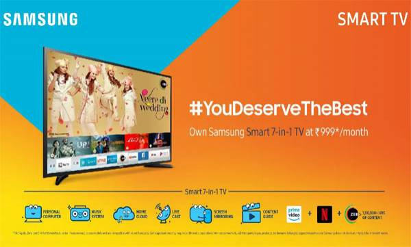 samsung launches two new televisions frame and smart 7 1 india
