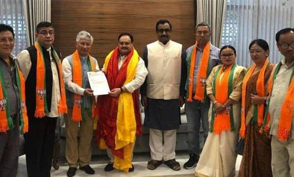 BJP, Sikkim Democratic front